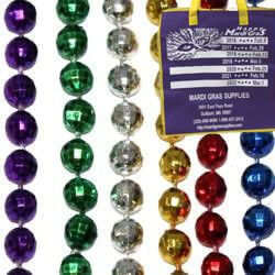 7mm 33in Assorted Metallic Colors Disco Ball Mardi Gras Beads