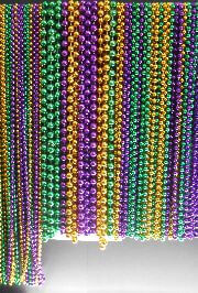 Purple/ Green/ Gold Float Rider Big Throw Bead Mix