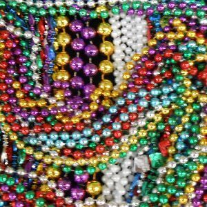 48in Long Assorted Colors and Styles Float Rider Super Mix of Throw Beads in a Zipper Bag