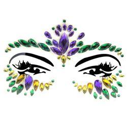 Body/ Face Mardi Gras Crystal Jewels/ Tattoo
