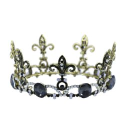 2.75in Tall Antique Style Crown with Fleur de lis Design