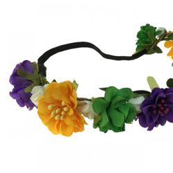 Mardi Gras Flower Headband