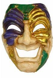 Decorate your walls with Giant Mardi Gras Masks. Decorations include Big Mask, Jester Venetian Mask, Joker Big Mask, Comedy and Tragedy Big Mask.