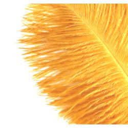 15in Gold/ Yellow Ostrich Feather