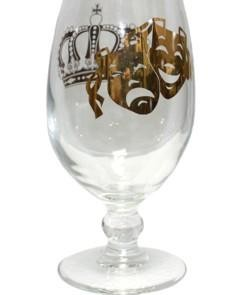 Mardi Gras Hurricane Glass 3 1/4in x 9 3/4in Tall