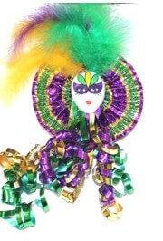 Mardi Gras Jester face Brooch