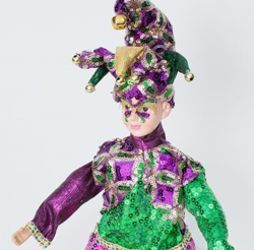 18in Tall Mardi Gras Purple Jester Doll