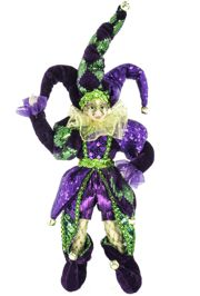 12in Tall Mardi Gras Jester Doll