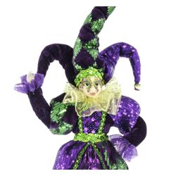 12in Tall Mardi Gras Jester Doll