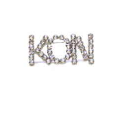 KON Rhinestone Silver Pin/ Brooch