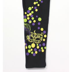 Mardi Gras Leggings w/ Mask Design