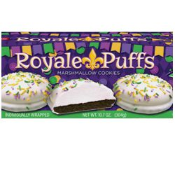 Mardi Gras Royale Puffs/ Marshmallow Cookies