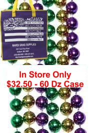 Most popular purple, green, and gold Mardi Gras beads
