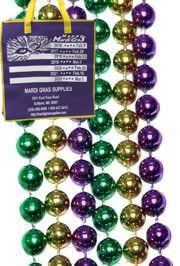 The bigger, the better?  Well at 48 inches long, these Mardi Gras beads will hang just shy of 2 feet