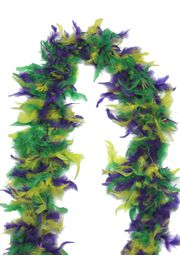Purple/ Green/ Yellow Feather Boas