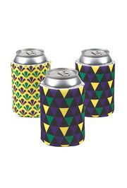Assorted Styles Mardi Gras Foam Can Coolers