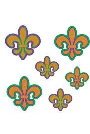 Glitter Fleur de Lis Mardi Gras Cutouts