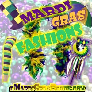 Mardi gras fashions and accessories