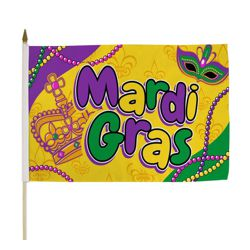 12in x 18in Mardi Gras Flag