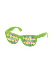 5 1/4 x 2in Mardi Gras Pinhole Glasses