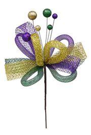 18in Long Mardi Gras Ribbon/ Tubing/ Tinsel/ Ball Pick