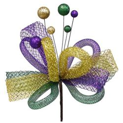 18in Long Mardi Gras Ribbon/ Tubing/ Tinsel/ Ball Pick