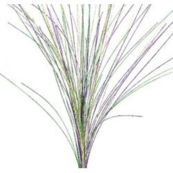 35in Long Glitter Mardi Gras Grass Spray