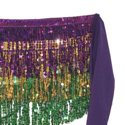 Mardi Gras Belly Dancing Sequin Scarf/ Skirt