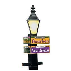 71 1/4in Tall Cardboard Mardi Gras/Pole/Street Directional Sign