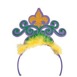 Glittered Foam Mardi Gras Tiaras