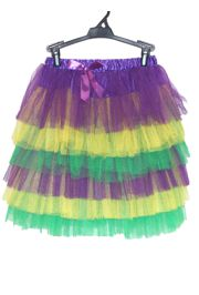 Mardi Gras Multilayered Tutu/ Skirt