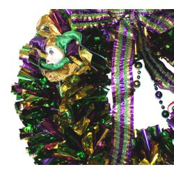24in Mardi Gras Wreath