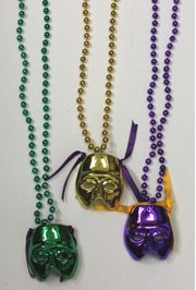 Mardi Gras Color Mask Necklace