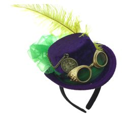 Mardi Gras Mini Top Hat Steampunk Style