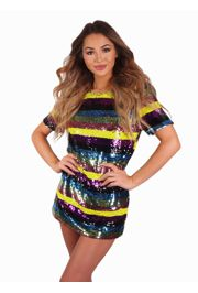 Multicolor Sequin Top