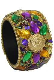 1.5in Sunburst Mardi Gras Napkin Ring