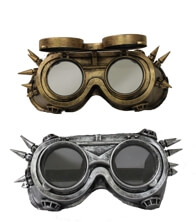 Steampunk / Day of the Dead Silver/Gold Spike Glasses/ Mask