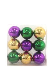 60mm Purple/ Green/ Gold Decorative Balls