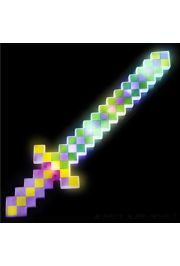 24in Light Up Mardi Gras Pixel Sword