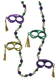 40in Mardi Gras Masks with Tassel Necklace