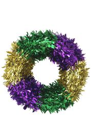 18in Mardi Gras Foil Wreath