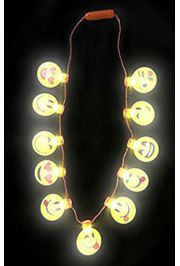 38in LED Emoji/ Smiley Face Charm Necklace
