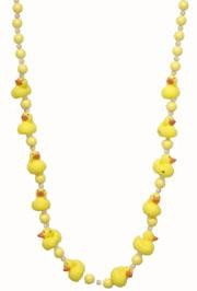 42in Yellow Baby Rubber Ducks Necklace/ Mini Ducks
