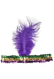 Mardi Gras Sequin Flapper Headband