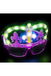 Light-up Mardi Gras Shades/ Sunglasses