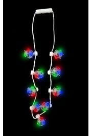 LED Large Disco Ball Charm Light-up Necklace