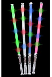 27in Glittered Light-up Swords Neon Assorted Colors