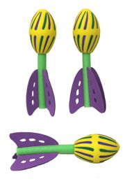 7in Purple/ Green/ Gold Rocket Balls