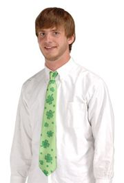 Satin Finish Shamrocks tie