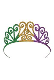 Glittered Mardi Gras Tiara